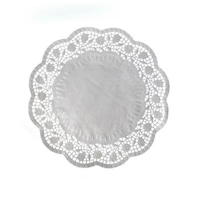 Krajka tortová okrúhla pr. 28 cm Biela / bal. 100 ks
