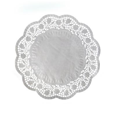 Krajka tortová okrúhla pr. 30 cm Biela / bal. 100 ks