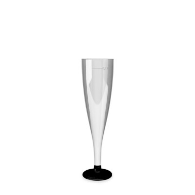 Pohár krištáľový 100 ml na šampanské s čiernou stopkou / bal. 20 ks