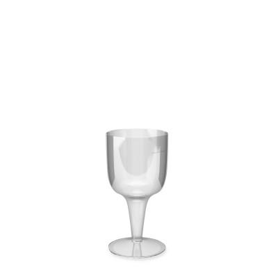 Pohár krištáľový 100 ml na stopke na víno / bal. 6 ks