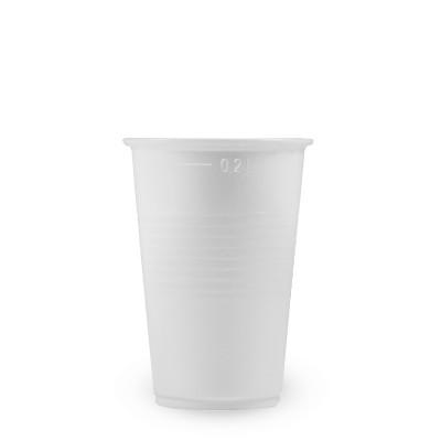 Pohár PP 200 ml, pr. 70 mm Biely / bal. 100 ks