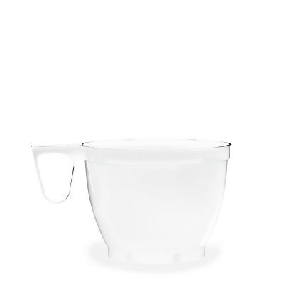 Šálka s uškom plastová 180 ml Biela / bal. 60 ks