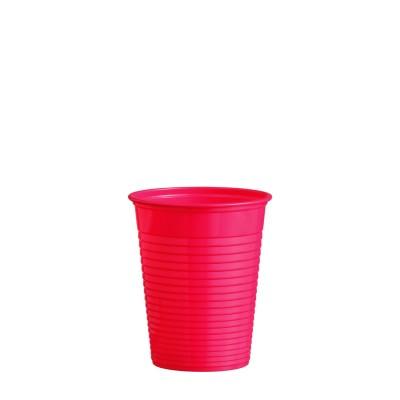 Pohár plastový 180 ml, pr. 70 mm Červený / bal. 50 ks