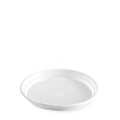 Tanier plastový pr. 22 cm Biely / bal. 100 ks