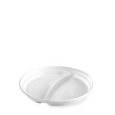 Tanier 2-dielny pr. 22 cm Biely / bal. 50 ks