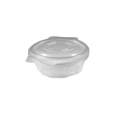 Miska PP 8-hranná s viečkom 250 ml Priehľadná / bal. 50 ks