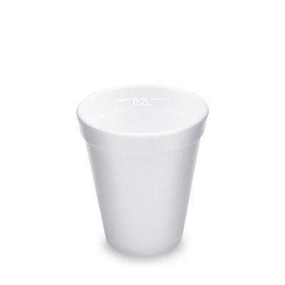 Pohár PPS 200 ml, pr. 80 mm Biely / bal. 25 ks