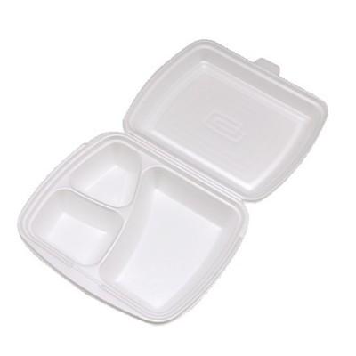 Menu box PPS 3-dielny 241x207x69 mm / bal. 125 ks