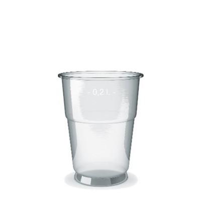 Pohár PET 200 ml, pr. 78 mm Priehľadný / bal. 50 ks