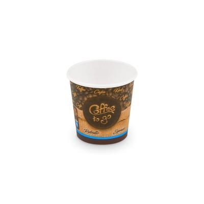 Pohár papierový COFFEE TO GO veľkosť XS 110 ml, pr. 62 mm / bal. 50 ks