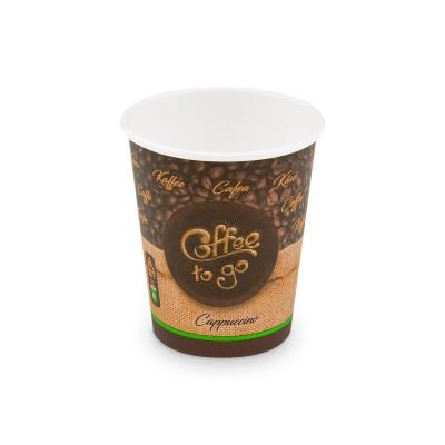 Pohár papierový COFFEE TO GO veľkosť M 280 ml, pr. 80 mm / bal. 50 ks
