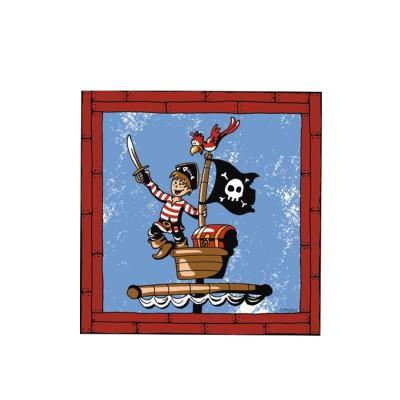 Obrúsky 33x33 cm 3-vrstvové Pirát / bal. 20 ks