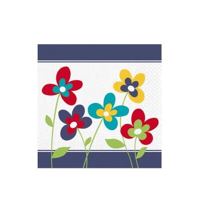 Obrúsky 33x33 cm 3-vrstvové Kvety / bal. 20 ks