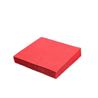 Obrúsky 24x24 cm 2-vrstvové Červené / bal. 250 ks