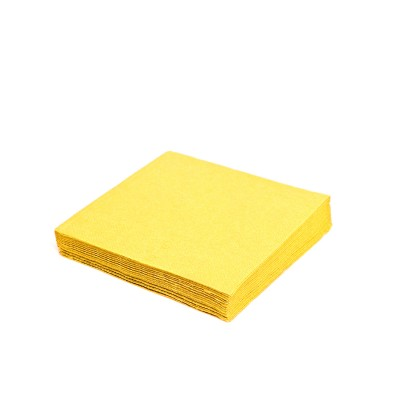 Obrúsky 24x24 cm 2-vrstvové Žlté / bal. 250 ks