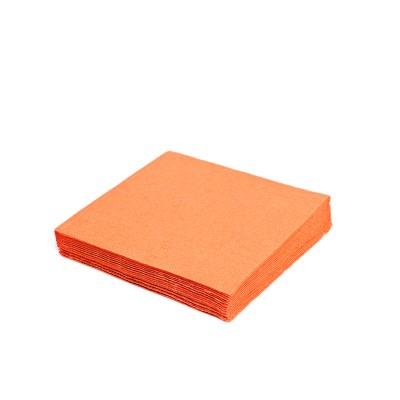 Obrúsky 24x24 cm 2-vrstvové Oranžové / bal. 250 ks