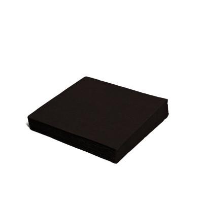Obrúsky 24x24 cm 2-vrstvové Čierne / bal. 250 ks