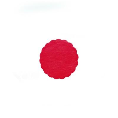 Rozetka pod šálku Premium pr. 9 cm Červená / bal. 500 ks