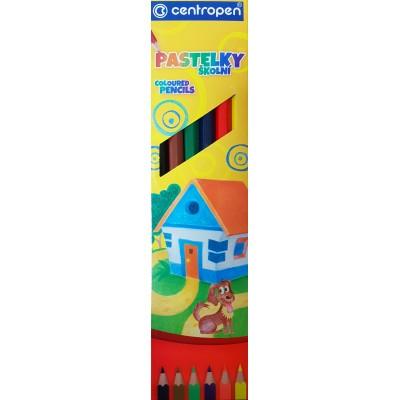 Ceruzky farebné / sada 6 ks