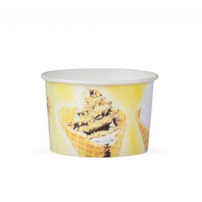 Pohár papierový na zmrzlinu 245 ml Kornútky / bal. 25 ks